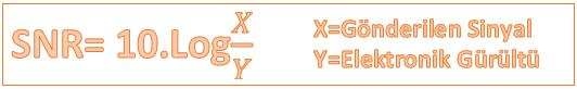 Elektronik gürültü formülü,elektronik gürültü,gürültü formülü,SNR formülü