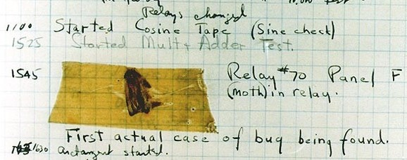 Harvard Mark II bug,bilgisayar bug,program bug,bug,ilk bug